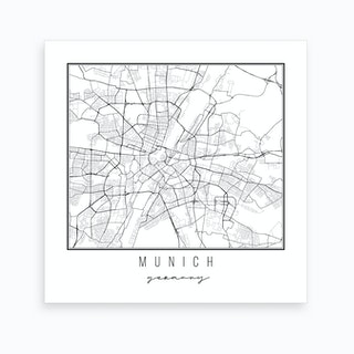 Munich Germany Street Map Art Print
