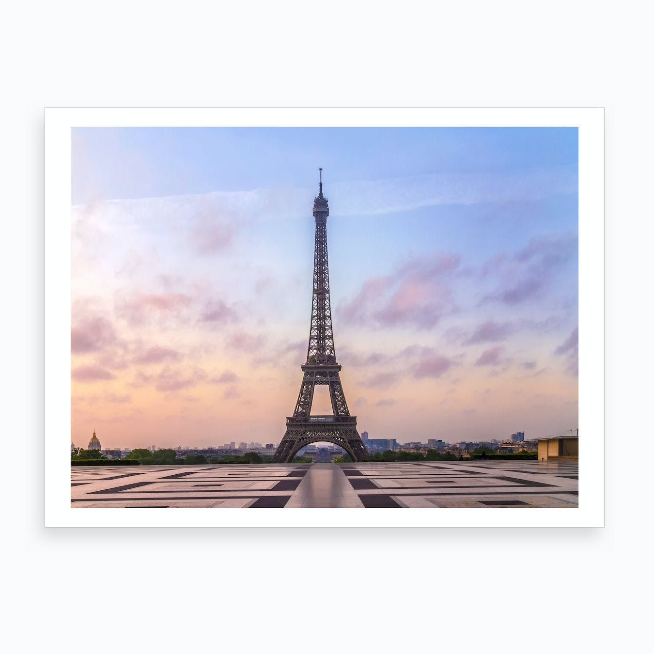 graphic regarding Printable Pictures of the Eiffel Tower named Eiffel Tower Dawn Artwork Print