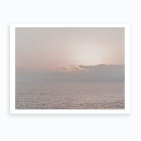 Milky Sunset Iv Art Print