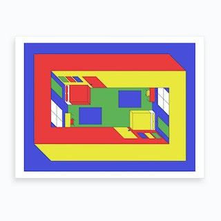 Penrose Bedroom Art Print