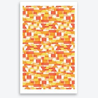 Orangeometries Art Print
