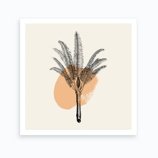 Tropical Tree Light Orange Art Print