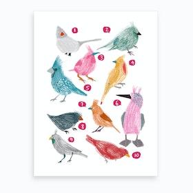 Counting Birds Art Print