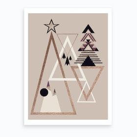 Xmas Abstract I Art Print