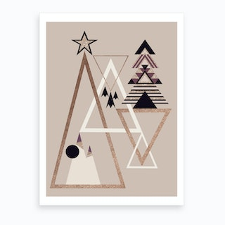 Xmas Abstract I Art Print