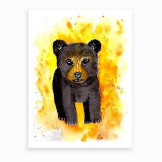 Honey Bear Cub Art Print