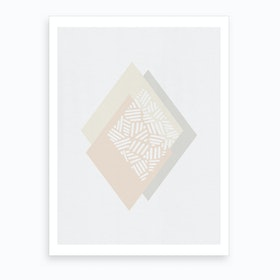 Minimalist Geometric III Art Print