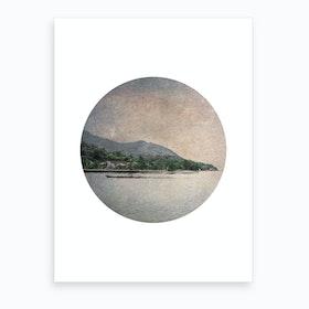 Circular Boat Art Print