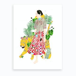 Tiger Friend Art Print