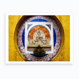 Sintra Fountain Art Print