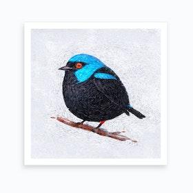 Winter Bird   Starry Effect Art Print