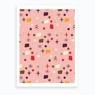 Atomic Pattern Pink Purple Art Print