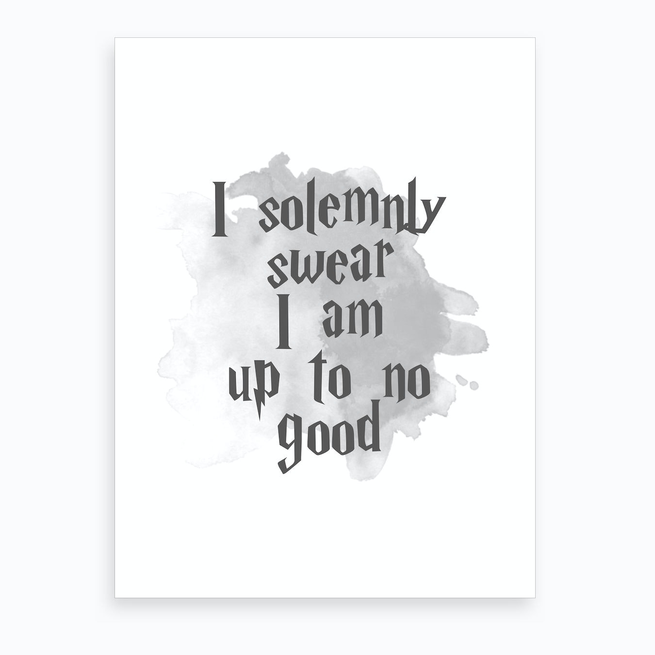 I Solemnly Swear Art Print by Pug Pup Prints - Fy