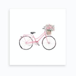 Pretty Bicycle Square Art Print