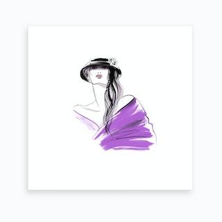 Girl In Hat Ii Art Print