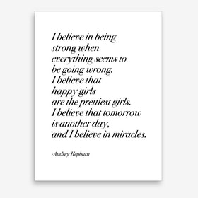 Happy Girls By Audrey In Serif Font Art Print