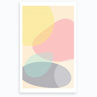 Lost In Shapes Art Print