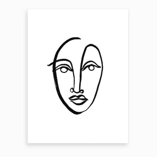 Faces 9 Art Print