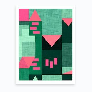B Klee Green Art Print