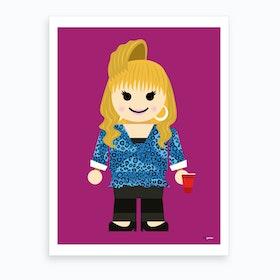 Toy Rachel Green Friends Art Print