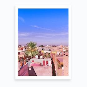 Marrakech Colorful Rooftop Art Print