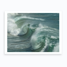 Blue Glass Wave Art Print