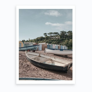 Teignmouth Beach Art Print
