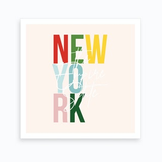 New York The Empire State Color Art Print