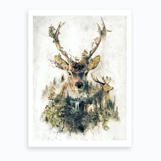 Surreal Deer Art Print