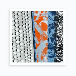 Abstract Orange And Blue Ii Art Print