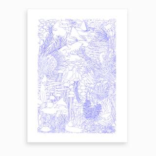 Underwater Lovers Art Print
