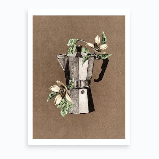 Botanical Mokapot Art Print