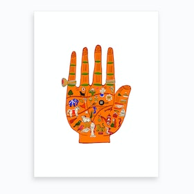 Indian Palmistry Art Print