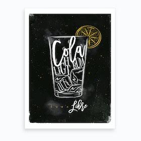 Cuba Libre Chalk Cocktail Art Print