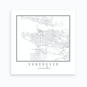 Vancouver Canada Street Map Art Print