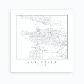 Vancouver Canada Street Map Art Print
