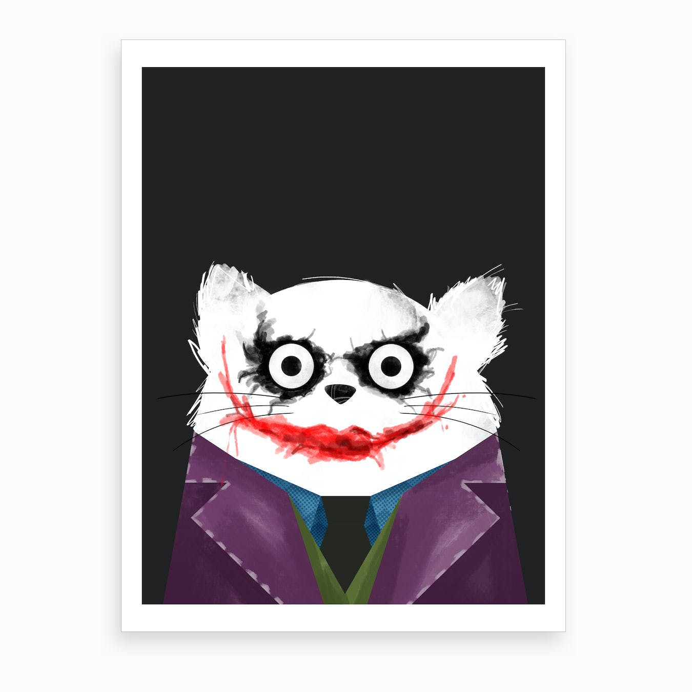 Cat Joker Art Print