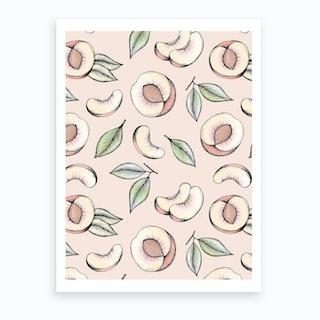 Peach Please Art Print