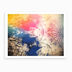 Cloudgazing Kaleidoscope Bohemian Art Print