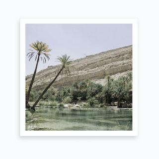 Tropical Desert Oasis Landscape Art Print
