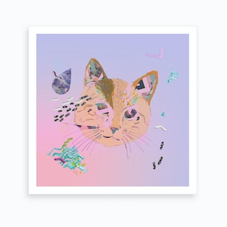 Cat Galaxy Print Art Print