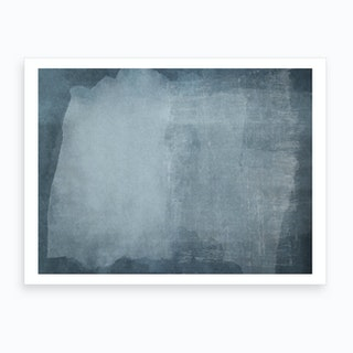 Minimal Abstract Blue Painting 2 Art Print