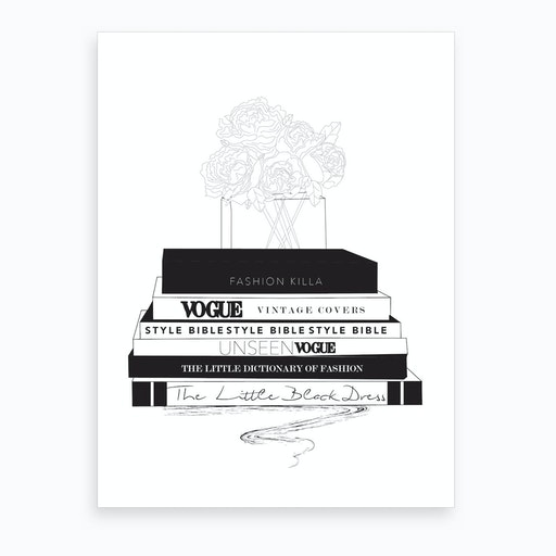 Fashion Books Art Print