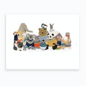 Friends In Jumpers Art Print