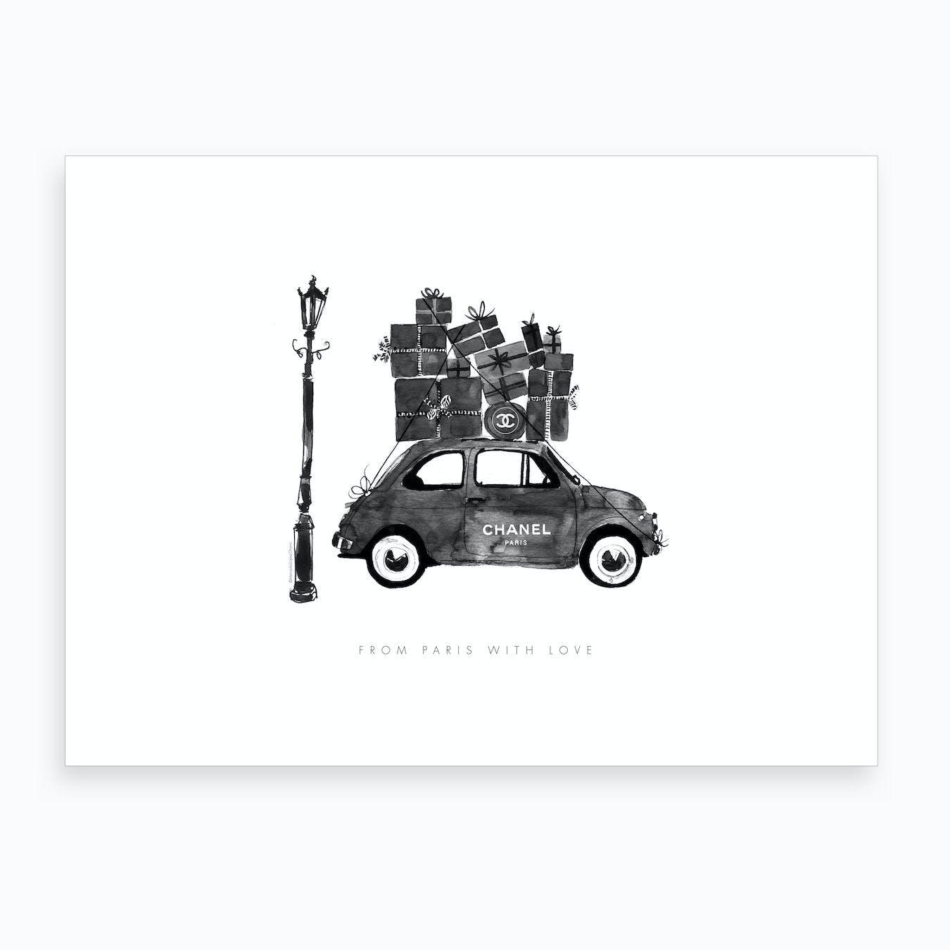 Chanel Vintage Car Art Print