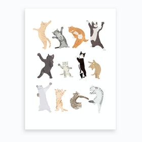Dancing Cats Art Print