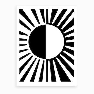 Ray Light Black Art Print