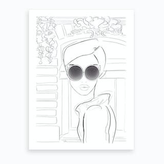 Chic Monochrome Sketch Art Print