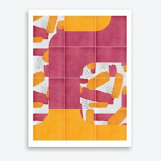 Bold Painted Tiles 01 Art Print