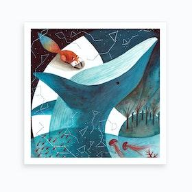 Fox And Whale 3 Art Print